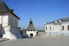 kazan. la tour blanche Photographie stock libre de droits