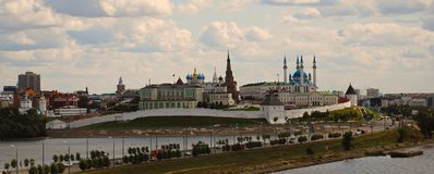 Kazan le Kremlin, paysage urbain Photo libre de droits