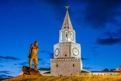Kazan Monuments. In blue sky summer night Royalty Free Stock Image
