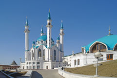 Kazan, mosque Qolsharif Stock Images