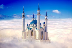 Kazan, mosque Qolsharif. Collage Stock Photos