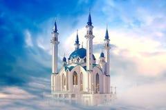 Kazan, mosque Qolsharif. Collage Stock Images