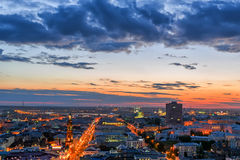 Kazan by night royalty free stock photo