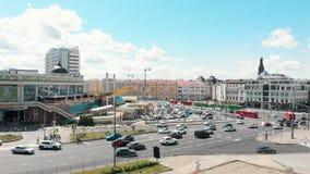 Kazan, Rússia 03-07-2019: centro da cidade na luz do dia vídeos de arquivo