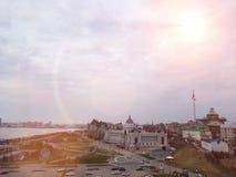 Kazan, Rússia - em maio de 2018: Scape da opinião da cidade imagem de stock