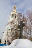 Kazan, Rússia, o 9 de fevereiro de 2017, monastério de Zilant - a construção ortodoxo a mais velha na cidade - semetery Foto de Stock Royalty Free