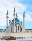 Kazan, república de Tartaristão, Rússia Vista do Kremlin de Kazan com mesquita de Qolsharif no centro fotografia de stock