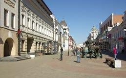 KAZAN, REPÚBLICA TARTARISTÃO, RÚSSIA - em maio de 2014: As ruas de t Imagem de Stock