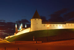 KAZAN, REPUBLIC TATARSTAN, RUSSIA - May, 2014:  Evening view of Royalty Free Stock Photography