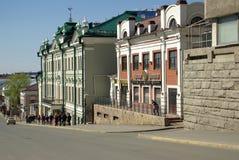 KAZAN, REPUBLIEK TATARSTAN, RUSLAND - mag, 2014: De straten van t Stock Fotografie