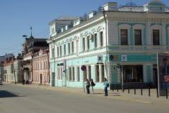 KAZAN, REPUBLIEK TATARSTAN, RUSLAND - mag, 2014: De straten van t Royalty-vrije Stock Afbeeldingen