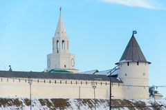 Kazan republik av Tatarstan, Ryssland Sikt av den Kazan Kreml royaltyfri bild