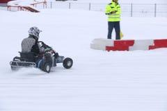 KAZAN ROSJA, GRUDZIEŃ, - 23, 2017: Otwarcie zima sezon Obraz Royalty Free