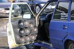 KAZAN, ROSJA, KWIECIEŃ 29, 2018: Auto przedstawienie - samochodu dźwięk 2018 obrazy royalty free
