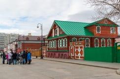Kazan Rosja, Marzec, - 28 2017 Kazan Muzealny Chak-chak w Tatar Sloboda Obrazy Royalty Free