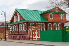 Kazan Rosja, Marzec, - 28 2017 Kazan Muzealny Chak-chak w Tatar Sloboda Zdjęcie Royalty Free