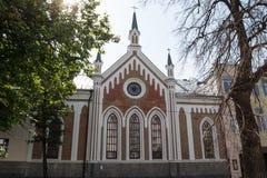 Kazan, Rosja - 2 2017 Wrzesień, St Catherine ` s kościół Niemiecka parafia Luterańska religia zdjęcie stock