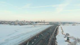 Kazan, Rusia 16-03-2019: Una opinión sobre el centro de Kazán El Kremlin y Kul Sharif Sights almacen de metraje de vídeo