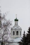 KAZAN, RUSLAND, 3 DECEMBER 2016, de klokketoren van St John het Doopsgezinde klooster Royalty-vrije Stock Afbeelding