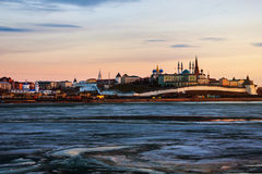 Kazan, Russia. Aerial view of Kremlin in winter Stock Photography