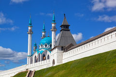 Kazan, Russia. Building of Mosque on territory of Kremlin on a background blue sky , Kazan, Russia Stock Image