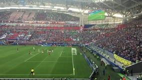 Kazan, Russia - 18 june 2017, FIFA Confederations Cup 2017 - Kazan Arena stadium - match Mexico-Portugal. Wide angle stock video footage