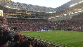 Kazan, Russia - 18 june 2017, FIFA Confederations Cup 2017 - Kazan Arena stadium - match Mexico-Portugal, wide angle. View stock video
