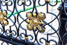 Openwork gates from forged metal royalty free stock photography