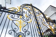 Openwork gates of the residence of the President of the Republic. Kazan, Russia - June 10, 2018: Openwork gates of the residence of the President of the Republic stock photo