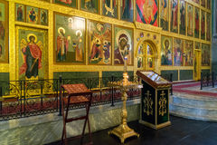 Kazan, Russia - Mar 26.2017. The iconostasis in Cathedral of Annunciation in the Kremlin. Kazan, Russia - Mar 26.2017. The iconostasis in Cathedral of the Stock Image