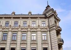 Kazan, Russia - March 27.2017. Fragment of Kazan Hotel on Bauman Street Stock Image