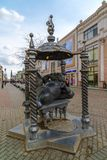 Kazan, Russia - March 27. 2017. Monument to cat in Bauman Street. Kazan, Russia - March 27. 2017. Monument to a cat in Bauman Street Royalty Free Stock Images
