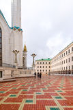 Kazan, Russia - March 26.2017. The square in front of Kul Sharif mosque stock photography