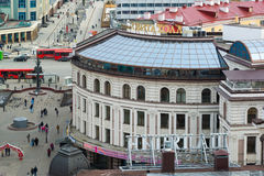 Kazan, Russia - March 28.2017. Svita Hall - shopping center on Bauman street. Kazan, Russia - March 28.2017. Svita Hall - shopping center on the Bauman street Royalty Free Stock Image