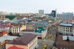 Kazan, Russia - March 28.2017. Top view of historical center And pedestrian Bauman street. Kazan, Russia - March 28.2017. Top view of the historical center And Stock Photos