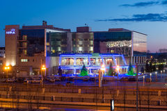 Kazan, Russia - March 25.2017. View of Mirage Hotel in the evening Stock Images