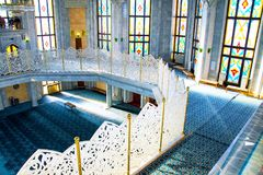 Interiors of famous Qol Sharif Mosque in Kazan, Russia Royalty Free Stock Photography