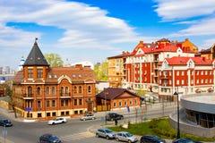 KAZAN, RUSSIA - MAY 8, 2014: Karl Marx Street, Tatarstan, Russia. One of streets in the historical center of city Kazan Royalty Free Stock Photography