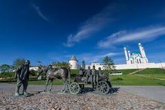KAZAN, RUSSIA - 2016 MAY 13: The monument to Kazan benefactor de Royalty Free Stock Image
