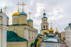 Kazan, Russia. Nikolaya Chudotvortsa Cathedral Nizskogo and Church of Intercession of Holy Virgin Royalty Free Stock Image
