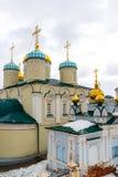 Kazan, Russia. Nikolaya Chudotvortsa Cathedral Nizskogo and Church of Intercession of Holy Virgin Stock Photos