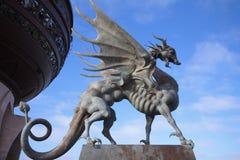 Kazan, Russia - October 25, 2016: Statue of dragon Zilant, Kazan. Kazan, Russia - October 25, 2016: Statue of dragon Zilant - symbol of the Kazan city, Republic stock photo