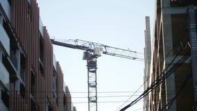 kazan Russia 01-12-2018: Przemysłu rozwój i budowa Betonowe ściany crane budowlanych zbiory