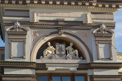 Kazan, Russia - September 2, 2017: Facade of National museum Republic of Tatarstan - Dragon Zilant - emblem of the city Stock Image