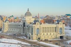 Kazan Ryssland - 23 02 2016: Bonde`-slott - departement av miljön och jordbruk arkivbilder