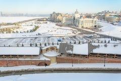 Kazan Ryssland - 23 02 2016: Bonde`-slott - departement av miljön och jordbruk royaltyfri fotografi