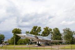 KAZAN RYSSLAND, JUNI 05, 2018: Nivå-monumentet TU-22M3 royaltyfri bild