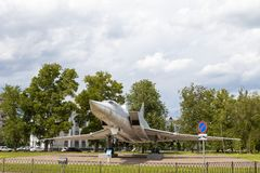 KAZAN RYSSLAND, JUNI 05, 2018: Nivå-monumentet TU-22M3 arkivbilder