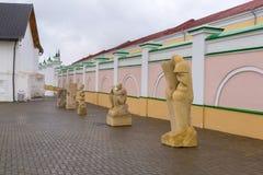 Kazan Ryssland - mars 26 2017 Stenmelodi - en internationell symposium på skulptur i Kreml Royaltyfria Foton