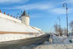 Kazan Ryssland - 23 02 2016: Republik av Tatarstana I Kazan kremlin arkivfoton